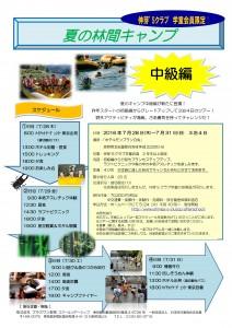夏の林間キャンプ中級編
