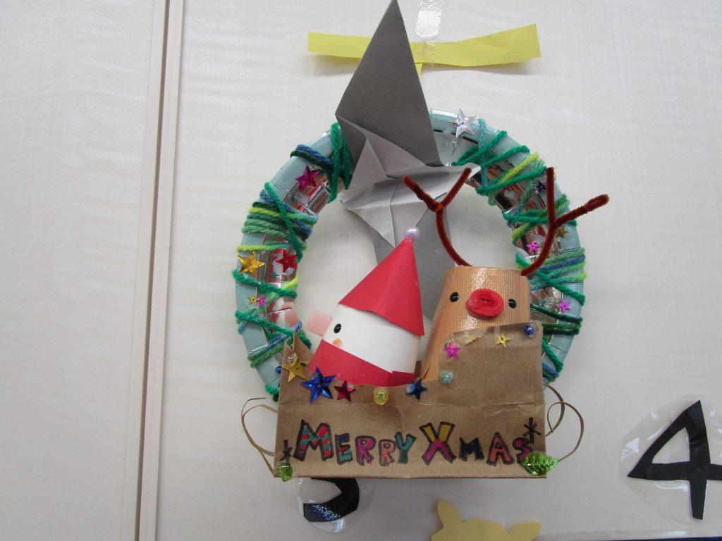 大崎校、最優秀クリスマスリースです。