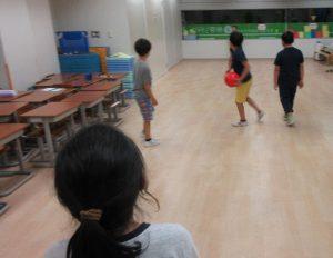 ドッジボール練習風景