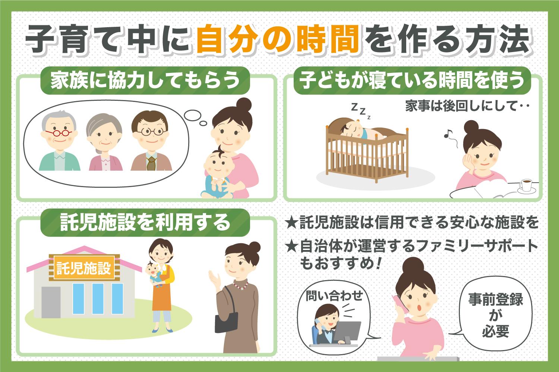 子育て中に自分の時間を作る方法