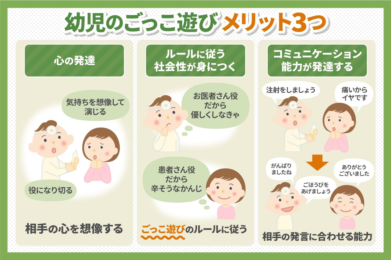 幼児のごっこ遊びメリット3つ